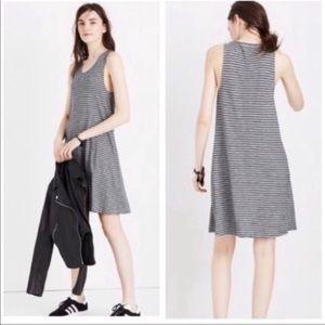 Madewell | Grey And Black Striped Dress